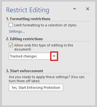 Microsoft Word 2016 Editing Restrictions Drop-Down Arrow | How to Restrict Editing in Microsoft Word