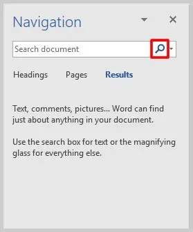 Microsoft Word Navigation Pane Microscope Button | How to View Specific Reviwers' Comments and Edits in Microsoft Word
