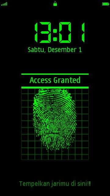Akses diterima FingerPrint s60v5 by Erit Kantoni