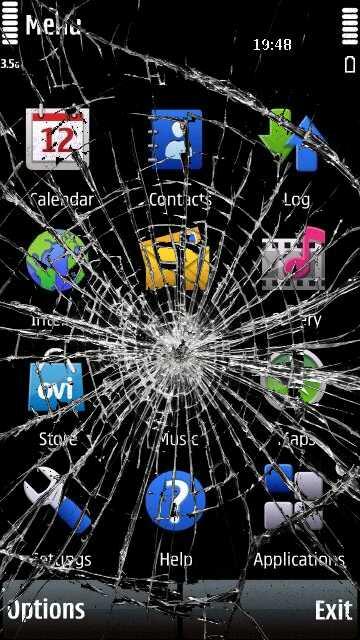 download aplikasi Cracked Screen Trick by erit07