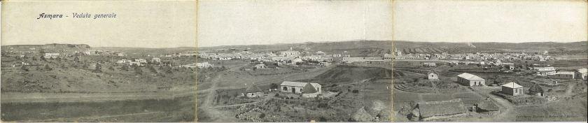 Early panorama of Asmara, Eritrea