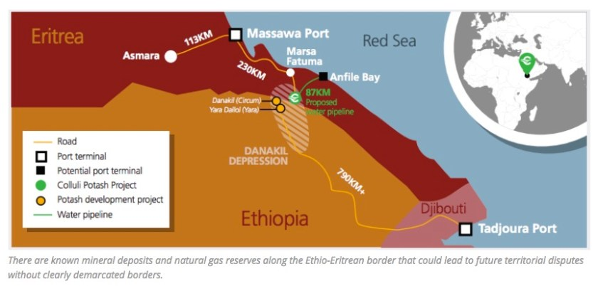 Eritrea - Ethiopia potash deposits
