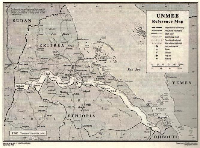 Ethiopia Eritrea Temporary Security Zone