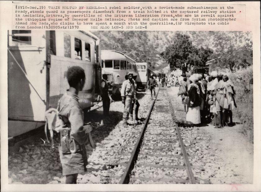 Eritrea ELF capture train 1971