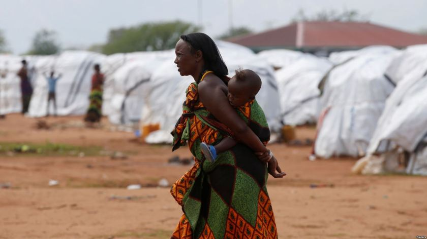 Ethiopian in refugee camp