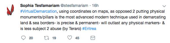 Virtual mapping border