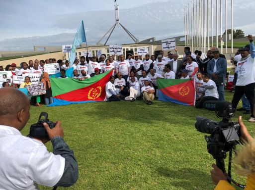 Camberra: Eritreans from Canberra, Sydney, Melbourne, Brisbane, Perth and Adelaide protest Eritrea independence day 2019