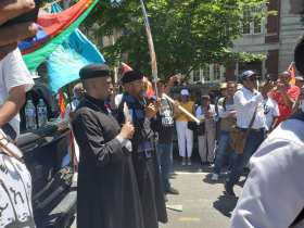 Priests protest