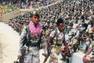 Tigray military parade Aug 2020
