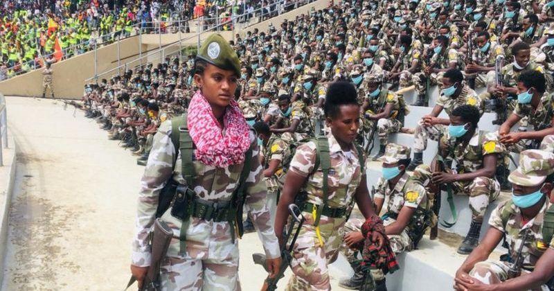 Tigray military parade Aug 2020
