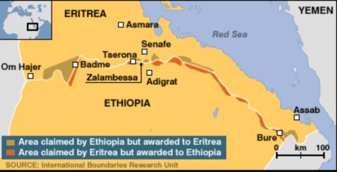 Eritrea Tigray map