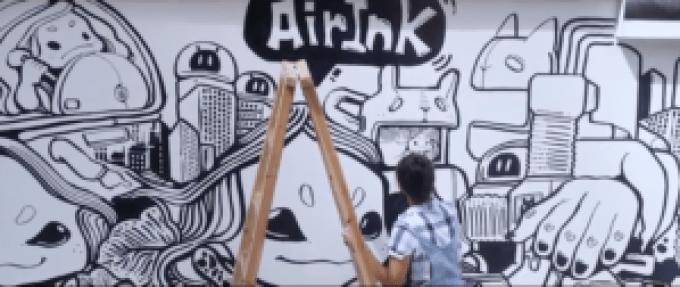El arte hecho con aire contaminado, no se ve tan mal