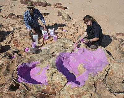 Huellas de dinosaurio, Dampier Australia