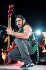 Rob Trujillo en la primera fecha de Metallica en el Foro Sol