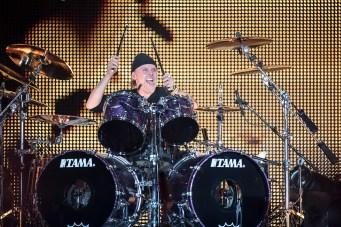 Lars Ulrich en la primera fecha de Metallica en el Foro Sol