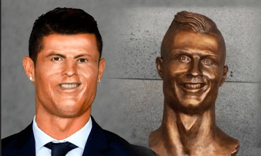 memes busto cristiano ronaldo aeropuerto