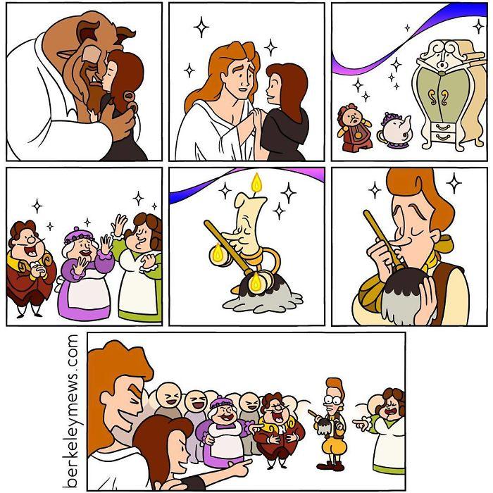 Comics Princesas Disney La Bella y la Bestia