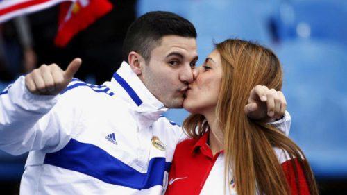 Amor romántico es igual a la pasión por el futbol