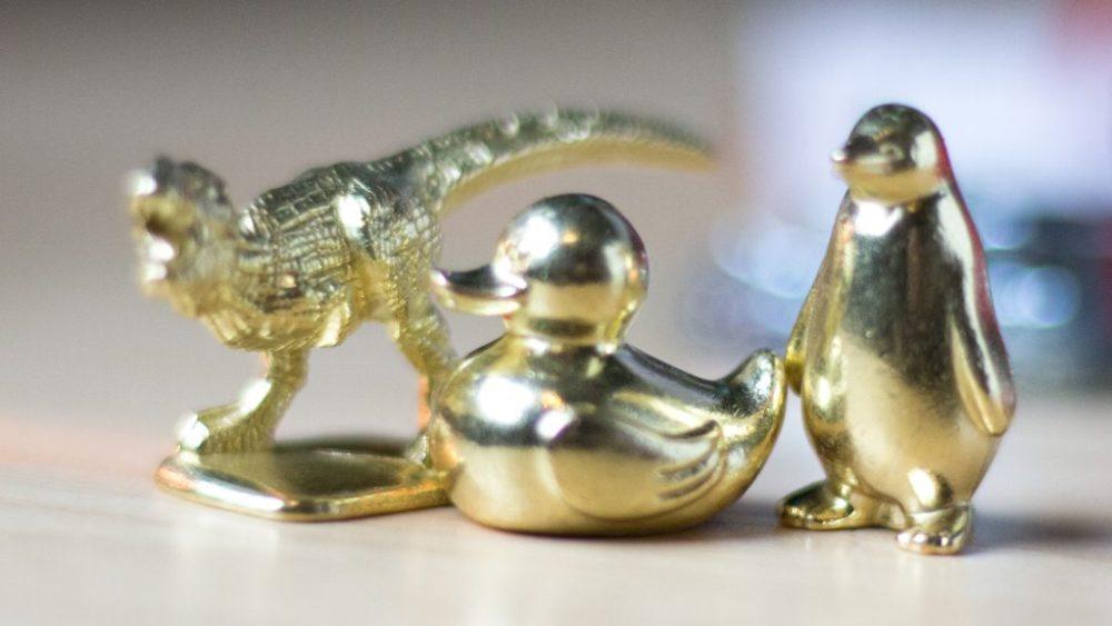 Monopoly T-rex, Patito, Pingüino