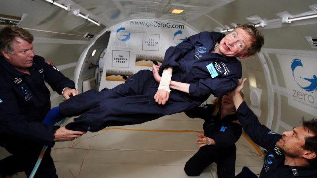 Stephen Hawking gravedad cero