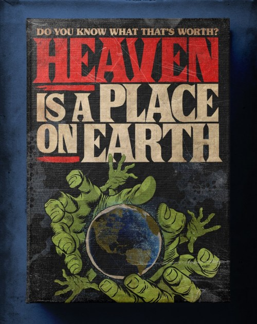 Butcher Billy ilustra Heaven Is A Place On Earth de Belinda Carlisle