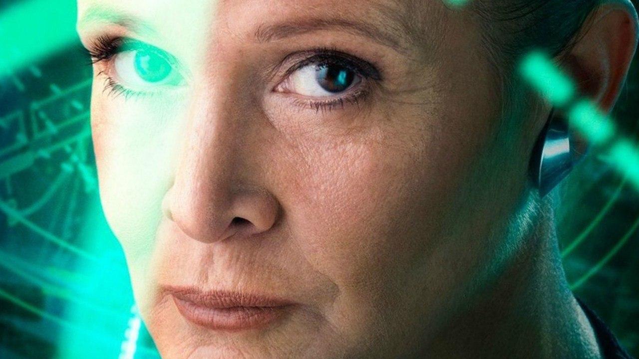 Carrie Fisher como la General Organa en Star Wars VII: El despertar de la Fuerza