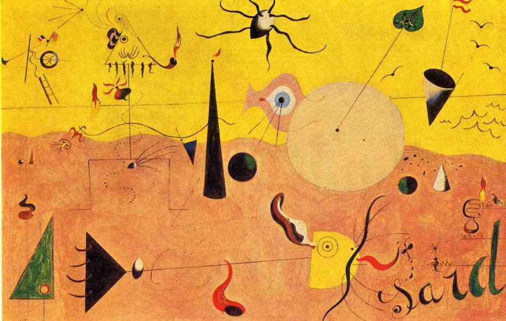 Paisaje Catalán (El cazador) (1923-1924) de Joan Miró