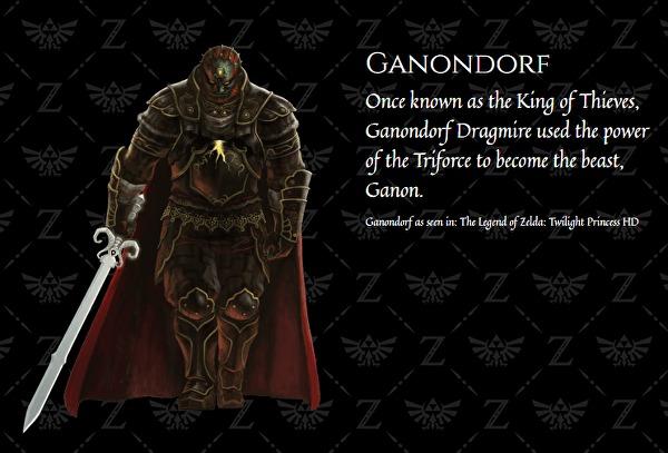 El nombre completo del antagonista de The Legend of Zelda es Ganondorf Dragmire