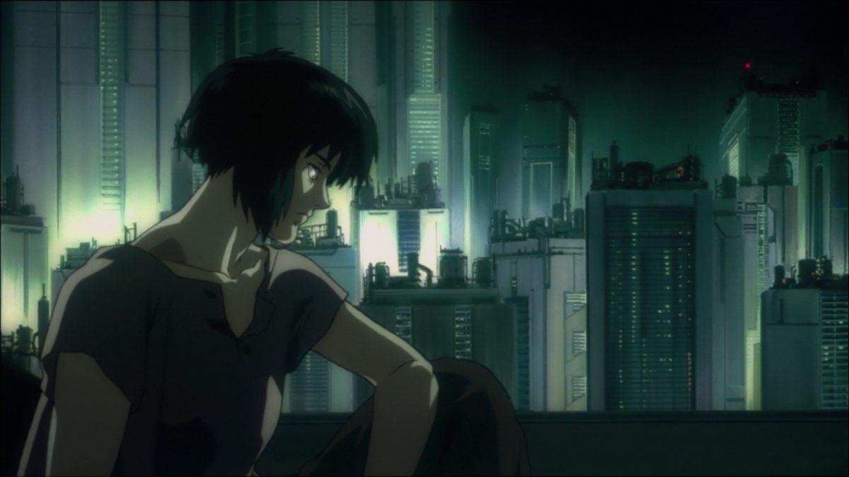 La Mayor Motoko Kusanagi en el anime de Ghost in the Shell