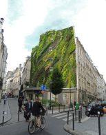 L'Oasis D'Aboukir en Paris, Francia lo ideó Patrick Blanc. Tiene 7,600 plantas de 237 especies distintas.