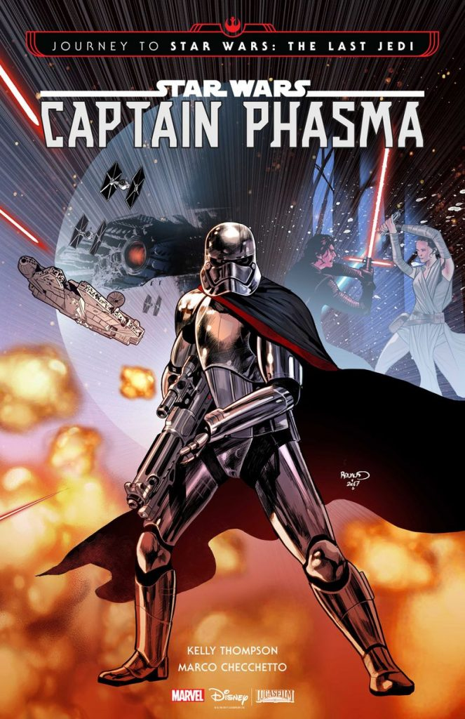 La Capitán Phasma en la portada del comic que unirá The Force Awakens con The Last Jedi