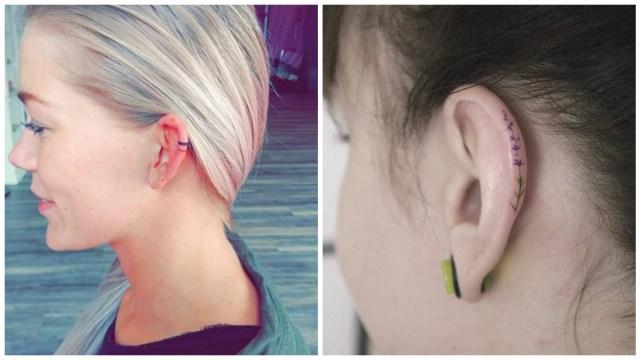 Adiós aretes, lo de hoy son los tatuajes en la oreja