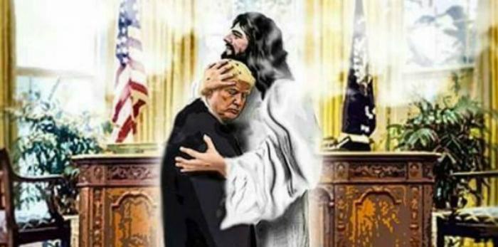 Foto Trump con Jesús