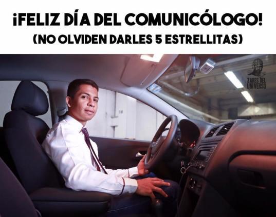 Meme día del comunicólogo uber