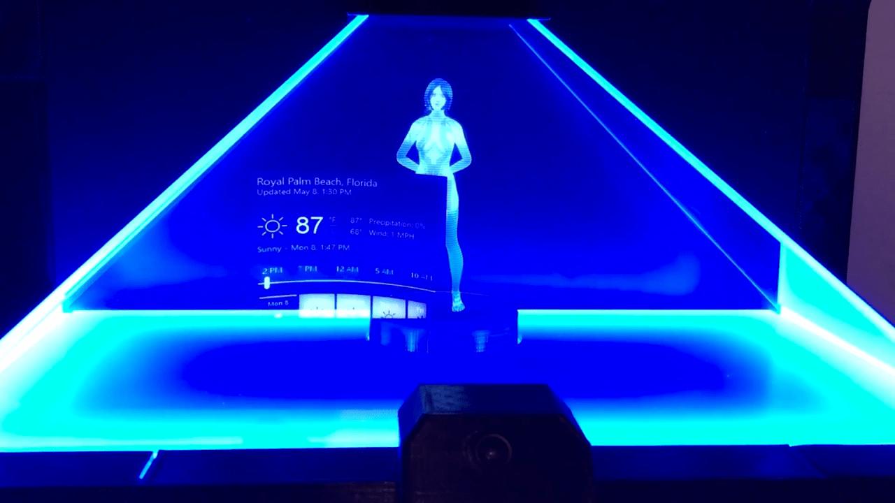 Cortana, convertida en un holograma