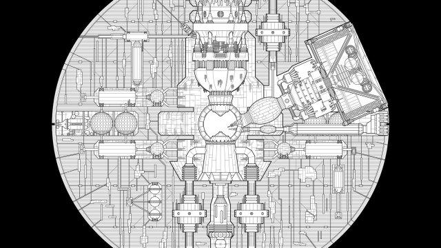 El diseño interior de la Estrella de la Muerte de Star Wars