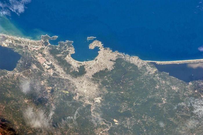 Acapulco desde el espacio