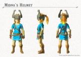 Link usando la máscara de Midna del primer DLC de Breath of the Wild