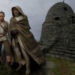 Daisy Ridley y Mark Hamill como Rey y Luke Skywalker en Star Wars VIII