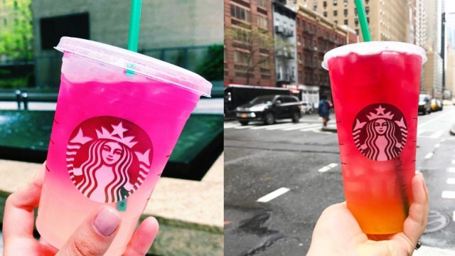 Stabucks lanza Unicorn Lemonade y Dragon Frappuccino