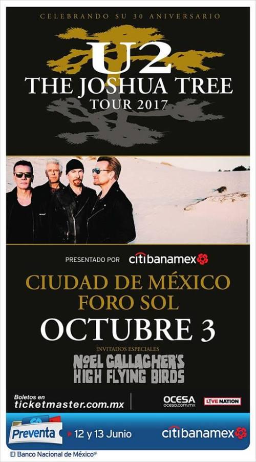 U2 viene a México a tocar el Joshua Tree completo