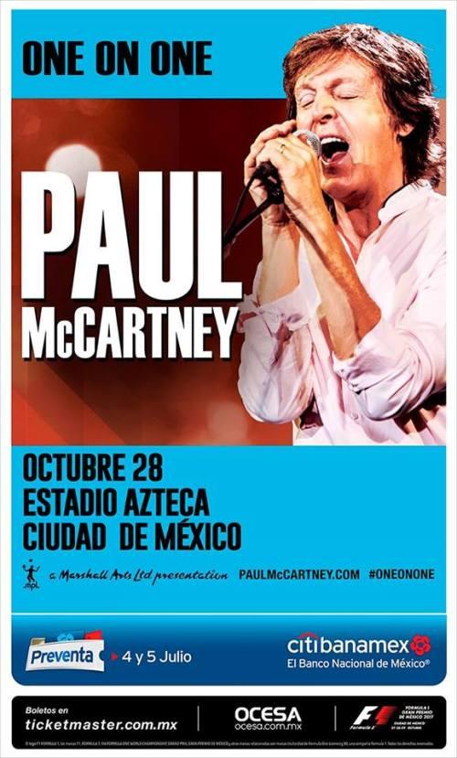Paul McCartney regresa a México con su gira One On One