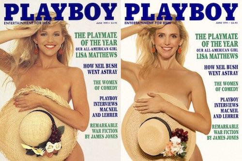 """""""Conejita"""" de playboy en su edición de 1991"""