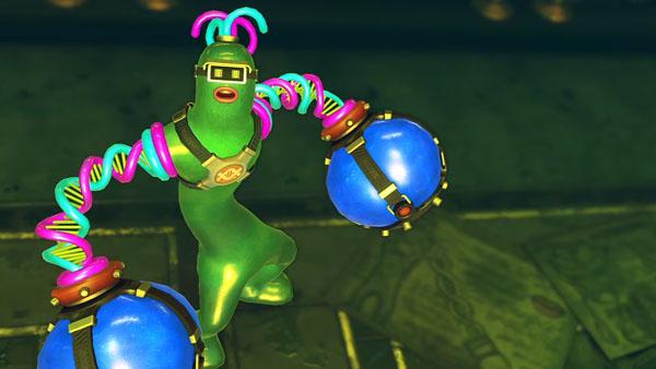 Helix es un combatiente de Arms para la Switch