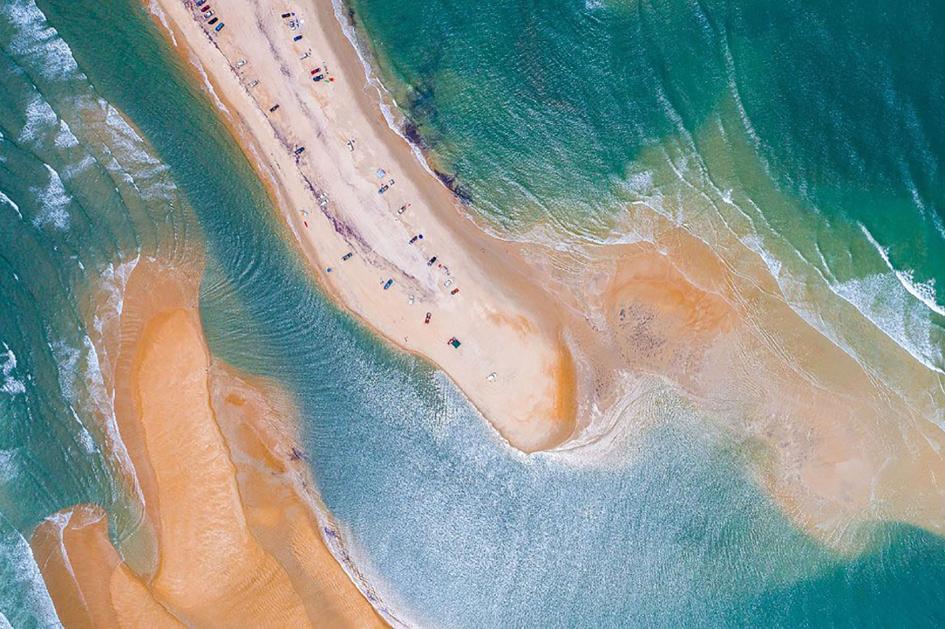 Una nueva isla apareció temporalmente en Carolina del Norte