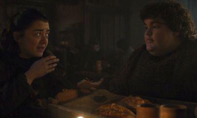 Arya y Hot Pie en Game of Thrones