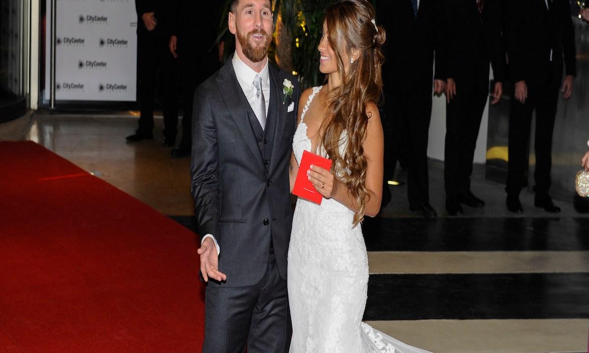 Messi y su esposa donaron la comida de su boda