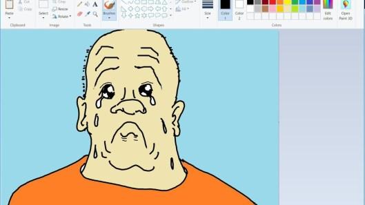 hombre llorando en paint