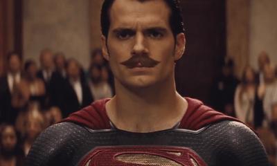 Henry Cavill con bigote en Batman v Superman