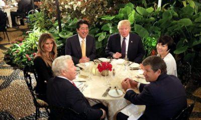 Akie Abe y Donald Trump en el Mar-a-Lago